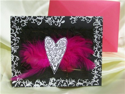 Feather Heart Card